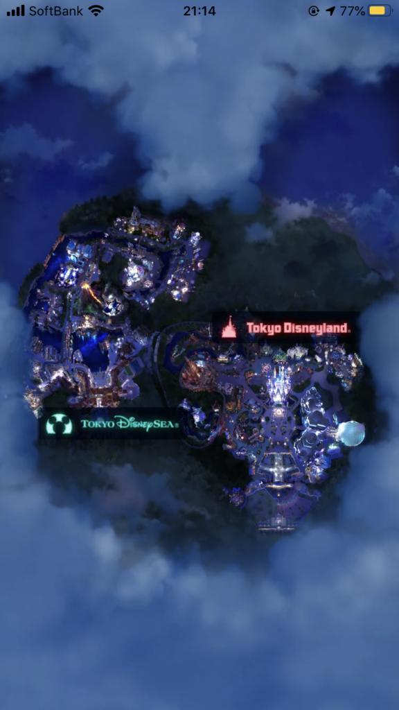 ディズニーマップ(夜)