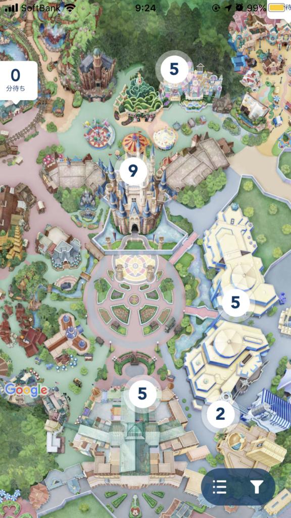 ディズニーマップを表示