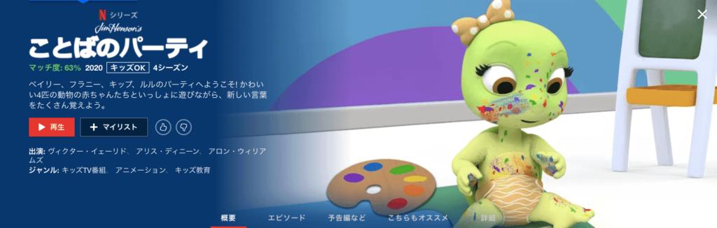 英語学習向けアニメ⑤ ことばのパーティ
