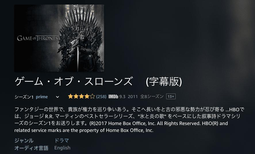 作品③ ゲーム・オブ・スローンズ