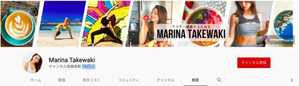 筋トレYouTuber:Marina Takewaki