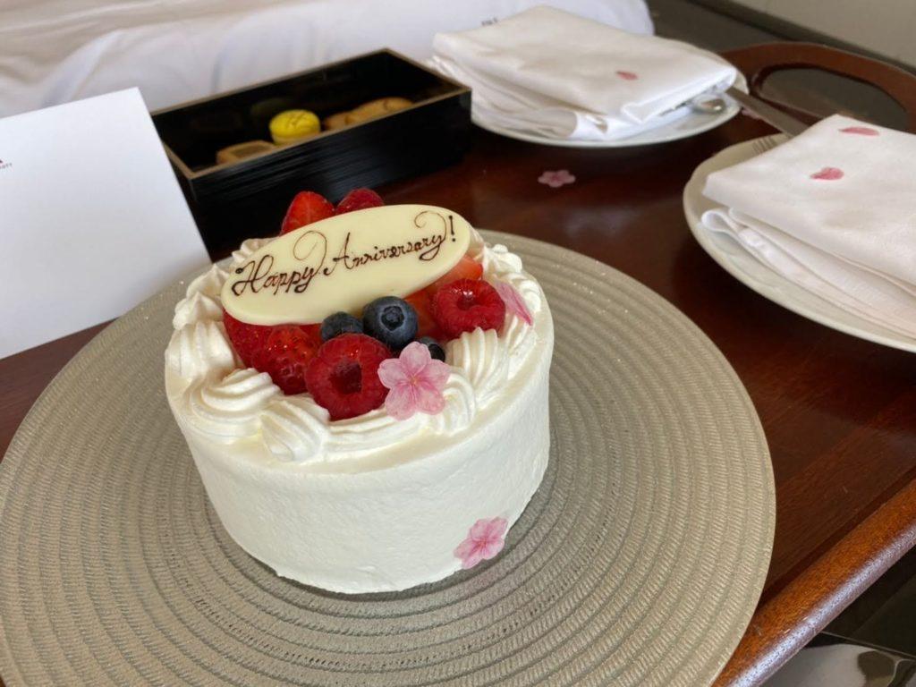 東京マリオットホテルのケーキ