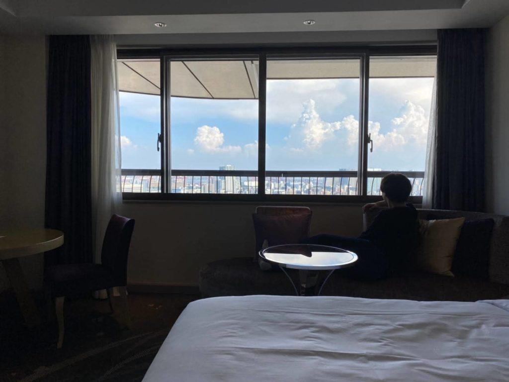 東京マリオットホテルの景色