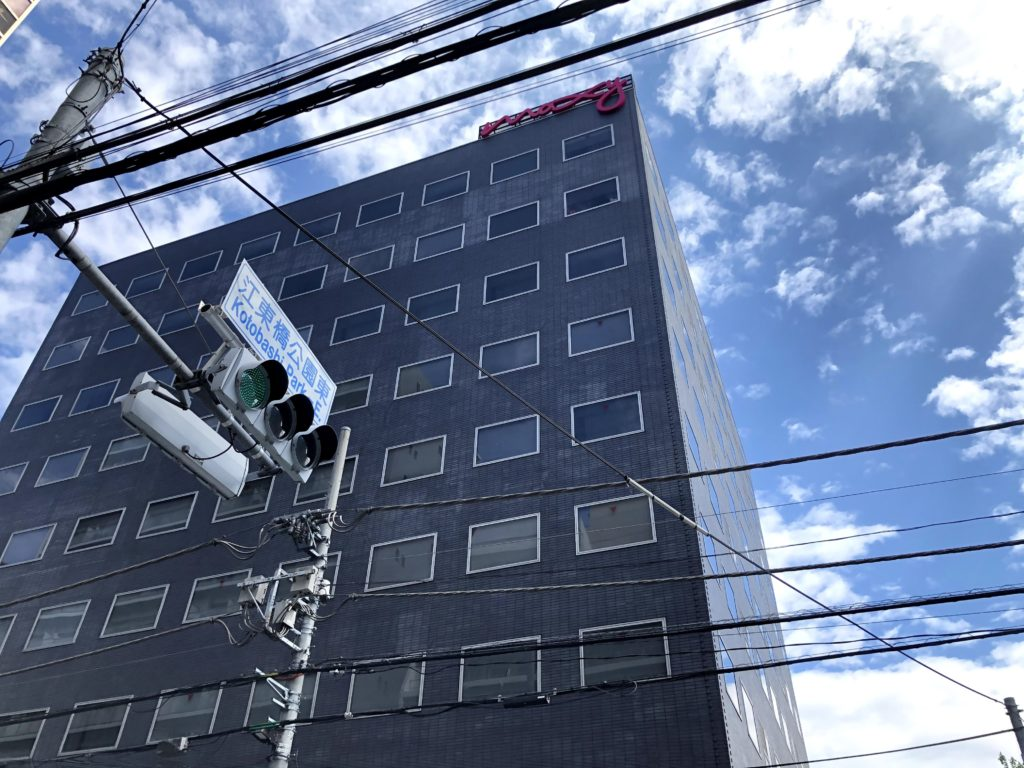 ミニストップの向かいにモクシー東京錦糸町がある