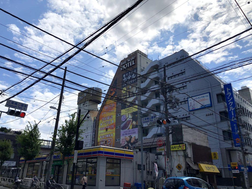 錦糸町の繁華街をまっすぐ進む
