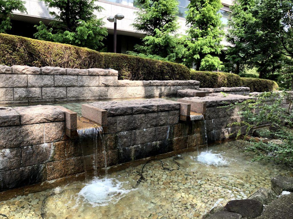 東京マリオットホテルの庭園