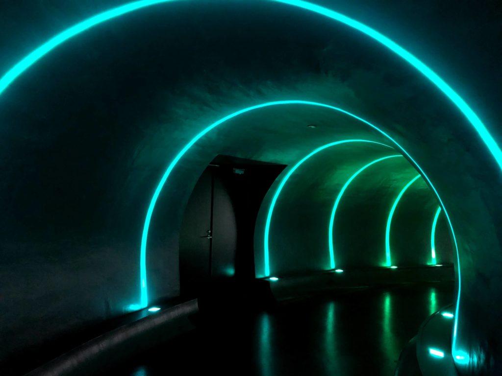 入り口にあるガリバートンネルをくぐる