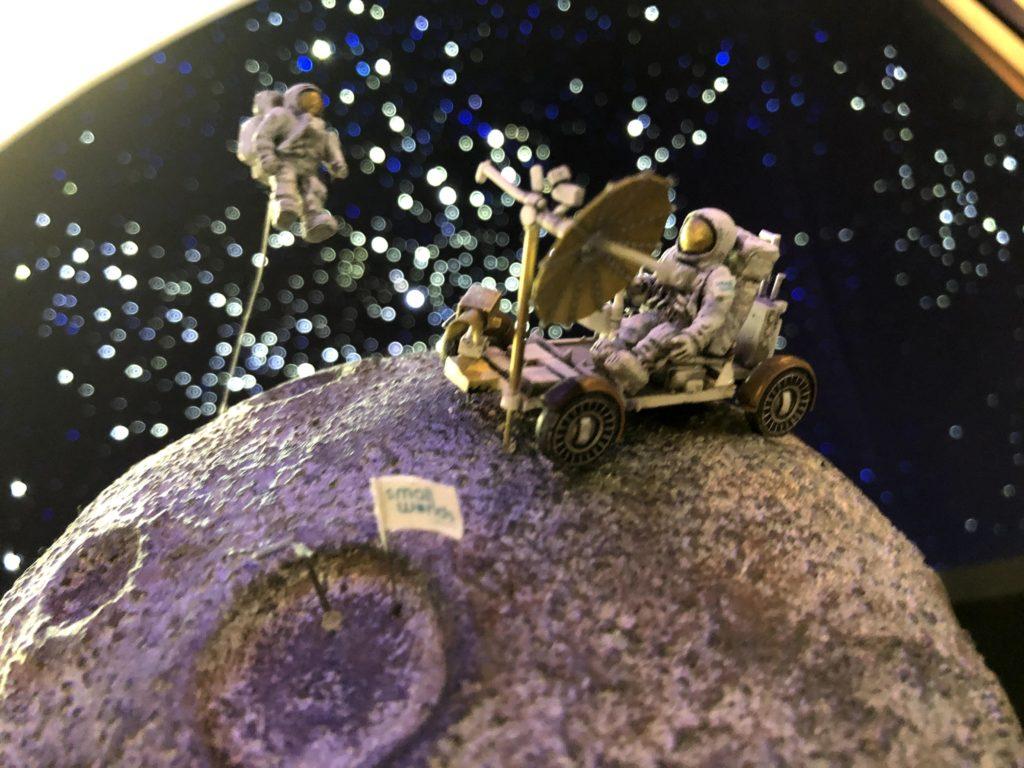 月と宇宙飛行士が撮影できるフォトスポット