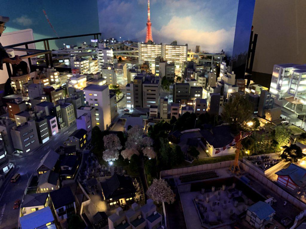 セーラームーンエリアは昔懐かしい東京の街並み