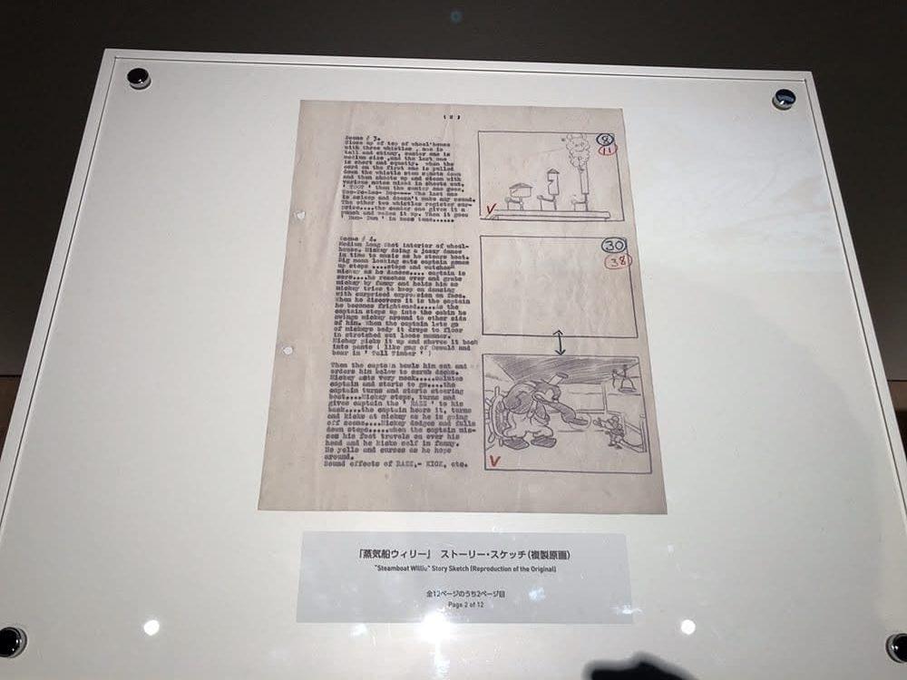 蒸気船ウィリーの絵コンテ