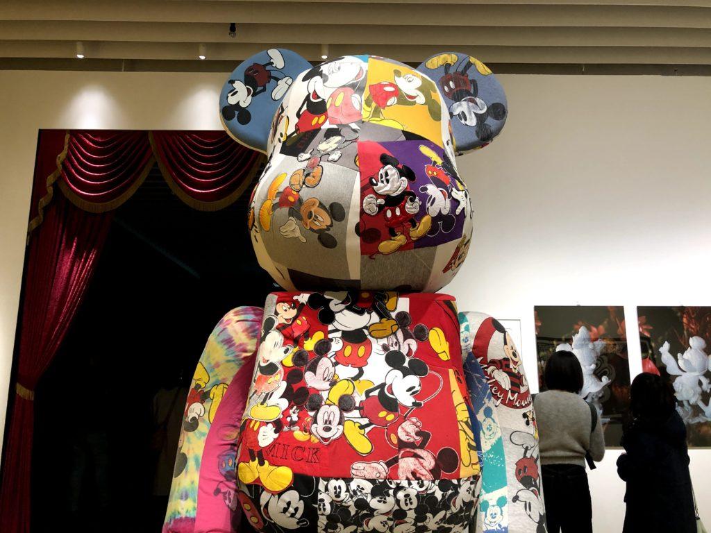 ミッキーマウス展の巨大なオブジェ