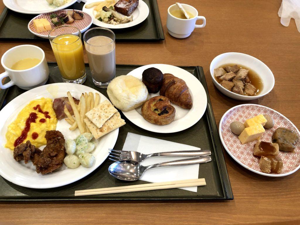 朝食バイキングの料理は美味しそう