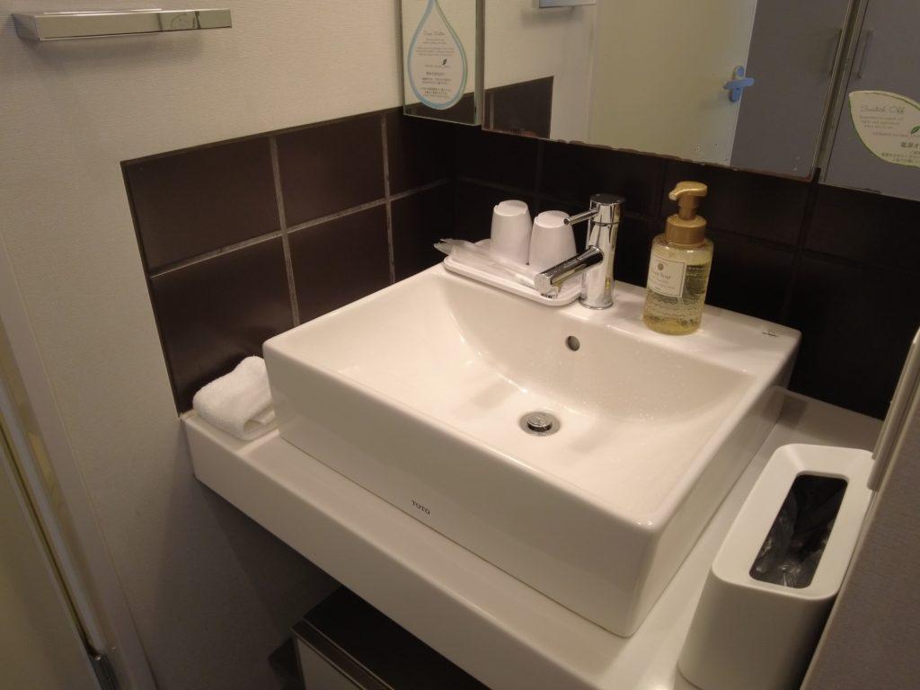 シタディーン新宿の洗面台はコンパクト
