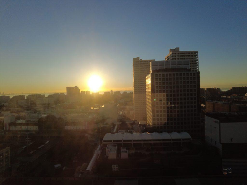 お部屋からの日の出もキレイ