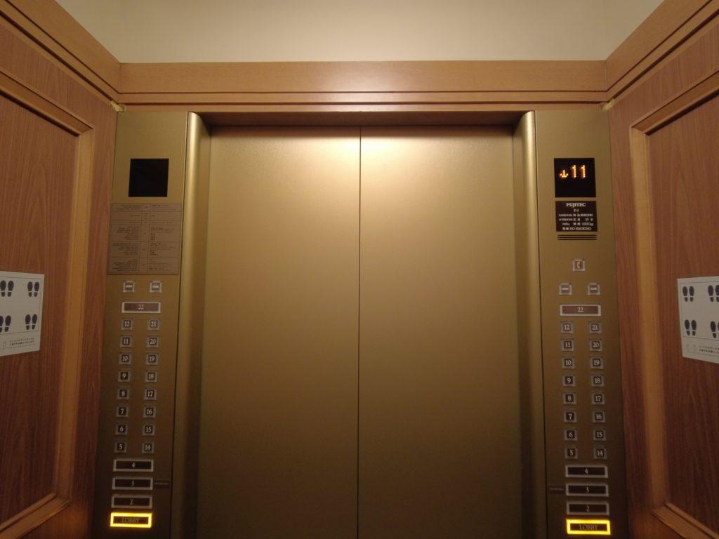 浦安ブライトンホテルのエレベーター