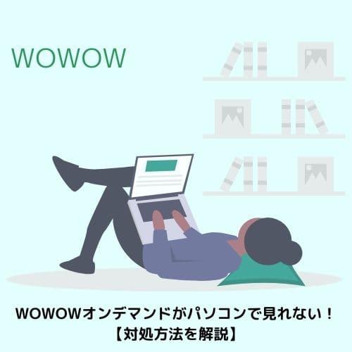 WOWOWオンデマンドがパソコンで見れない!【対処方法を解説】