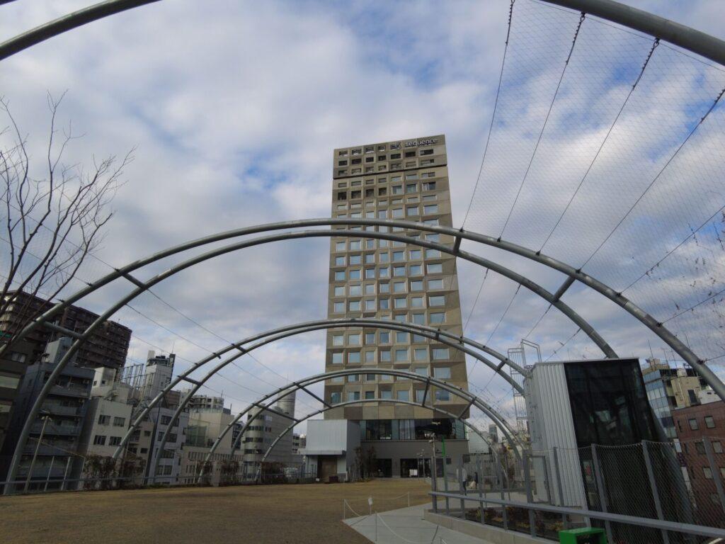 宮下パークの屋上にsequence MIYASHITA PARK