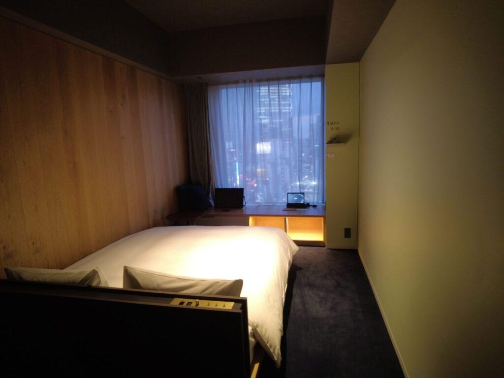 関節照明がすごくオシャレな客室