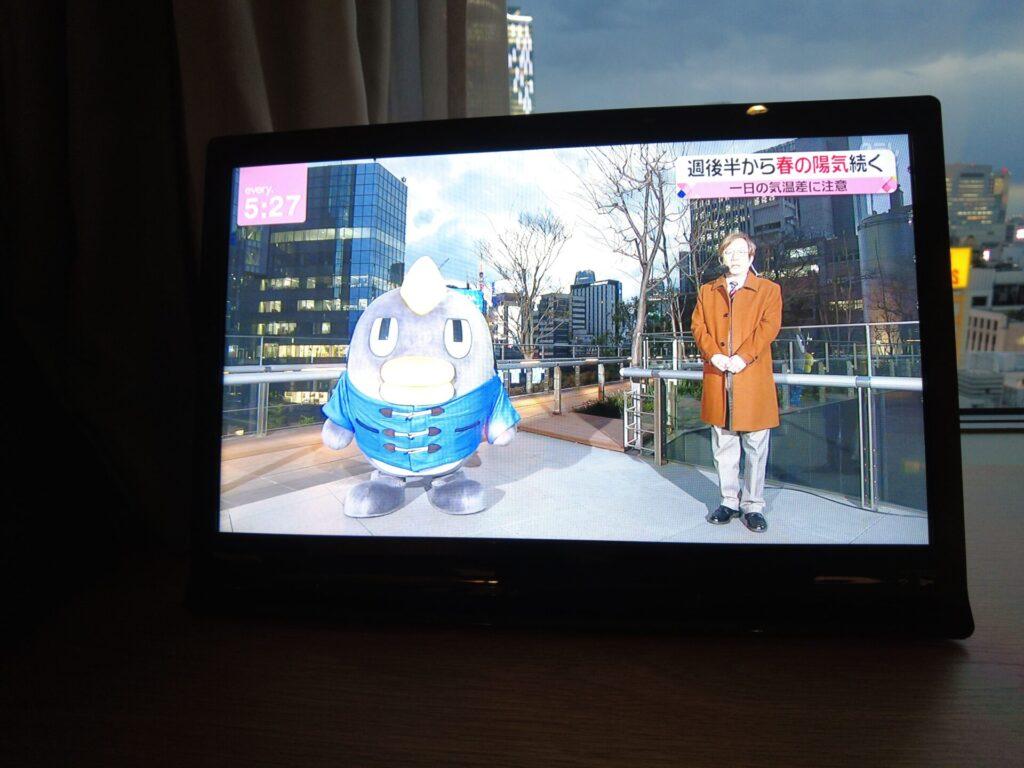 テレビもあるがタブレット程の大きさ