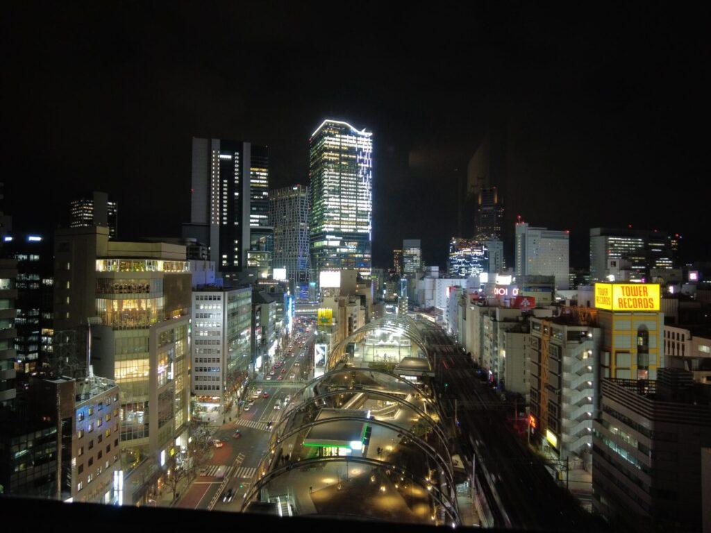 渋谷が一望できる素晴らしい夜景