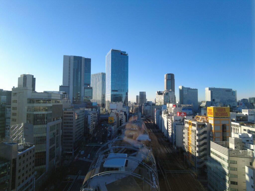 渋谷の高層ビルが見えてキレイ