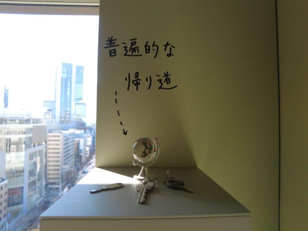 渋谷の路上に落ちていた鍵で作ったアート